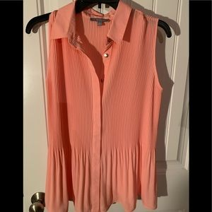 Beautiful Peach blouse-slim pleats that fade out